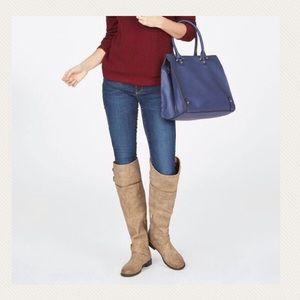 Just Fab Marlynn Thigh High Wide Calf Boots